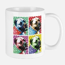 Four Faces Bullmastiff Mug