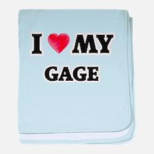 I love my Gage baby blanket
