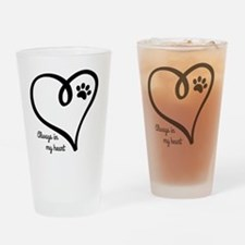 Cool Save a life adopt a pet adoption animal rescue Drinking Glass