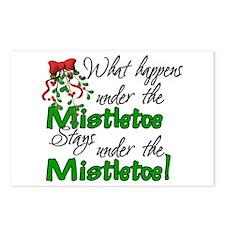 What Happens Under The Mistletoe Postcards (Packag