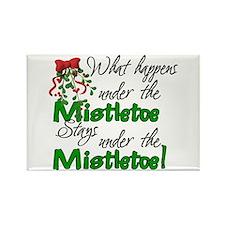 What Happens Under The Mistletoe Rectangle Magnet