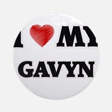 I love my Gavyn Round Ornament