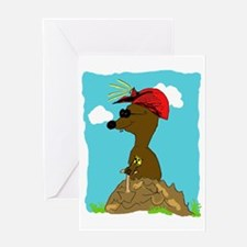 Blind mole Greeting Cards
