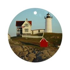 Nubble Light Ornament (Round)