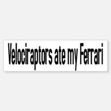 Velociraptor Ferrari Bumper Bumper Bumper Sticker