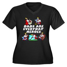 Dads Are Everyday Heroes Women's Plus Size V-Neck