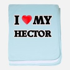 I love my Hector baby blanket