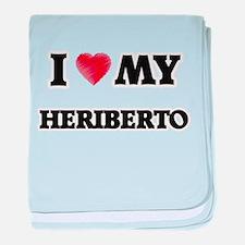 I love my Heriberto baby blanket
