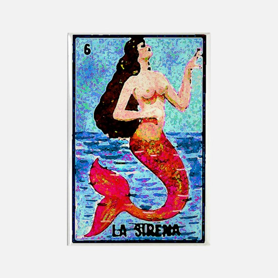 La Sirena Rectangle Magnet