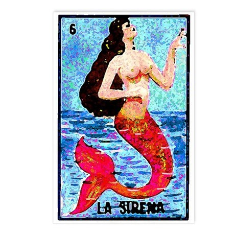 La Sirena Postcards (Package of 8)