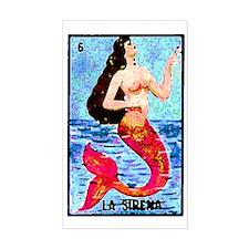 La Sirena Rectangle Decal