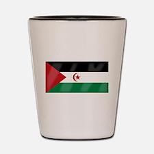 Western Sahara Flag Shot Glass
