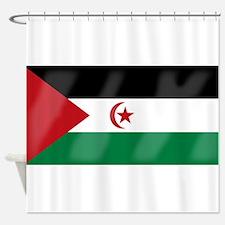 Western Sahara Flag Shower Curtain