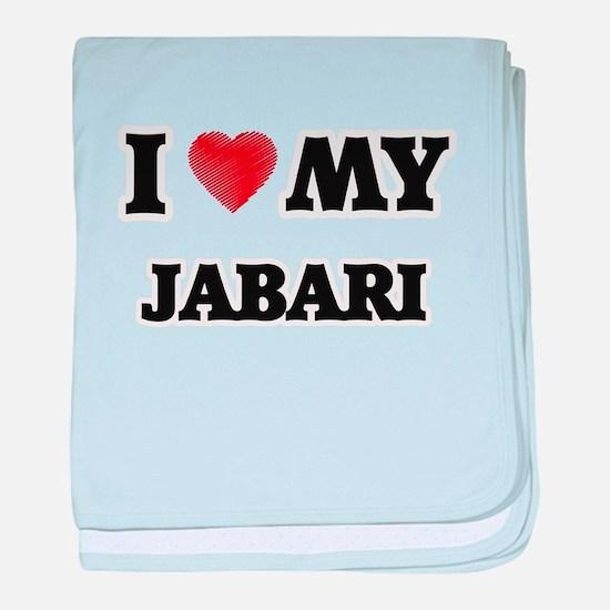 I love my Jabari baby blanket