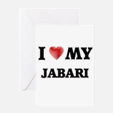 I love my Jabari Greeting Cards
