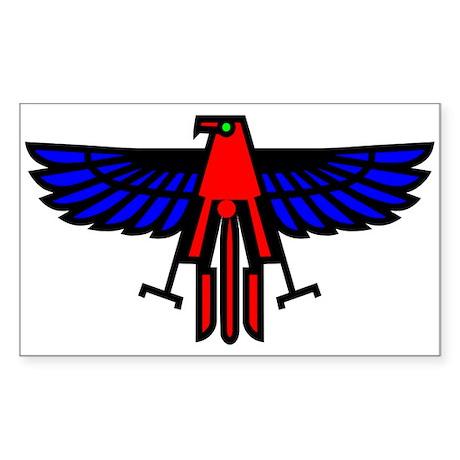 Indian Eagle Totem Rectangle Sticker