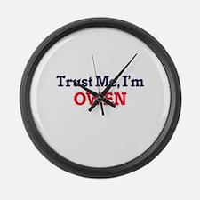 Trust Me, I'm Owen Large Wall Clock