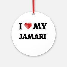 I love my Jamari Round Ornament