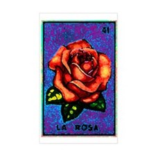 La Rosa Rectangle Decal