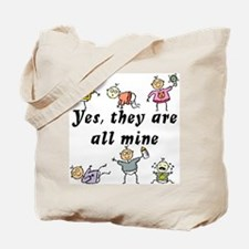All Mine (6 Kids) Tote Bag