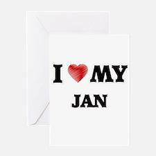I love my Jan Greeting Cards