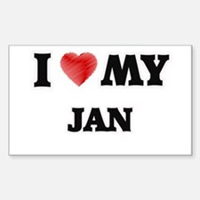 I love my Jan Decal