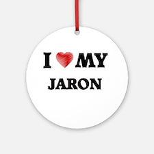 I love my Jaron Round Ornament