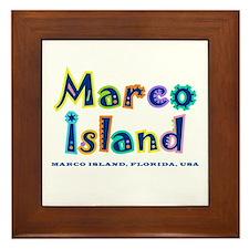 Tropical Marco Island -  Framed Tile