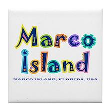 Tropical Marco Island -  Tile Coaster