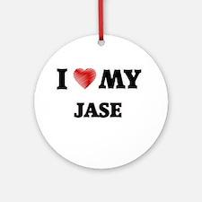 I love my Jase Round Ornament