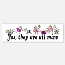 All Mine (7 Kids) Bumper Bumper Bumper Sticker