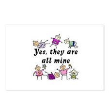 All Mine (7 Kids) Postcards (Package of 8)