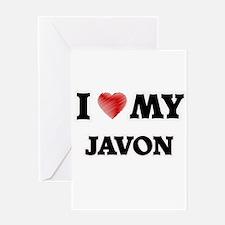 I love my Javon Greeting Cards