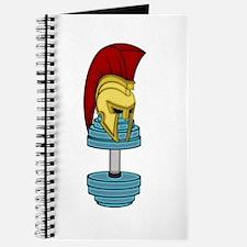 Spartan's helmet on dumbbell Journal
