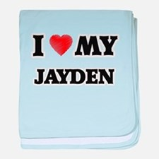 I love my Jayden baby blanket