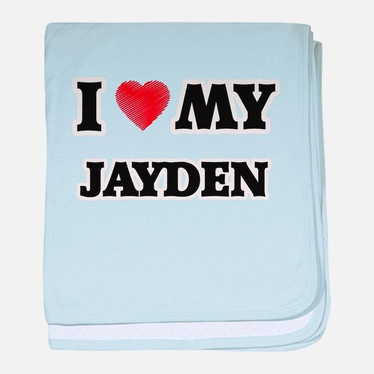 I love my Jayden baby blanket