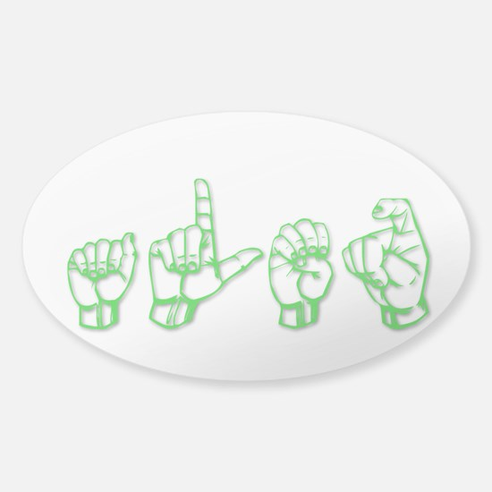 Alex -green in ASL Decal