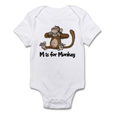 M is for Monkey Infant Bodysuit