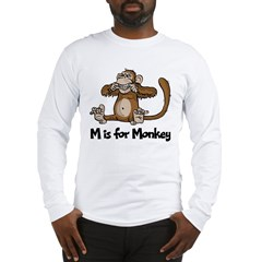 M is for Monkey Long Sleeve T-Shirt
