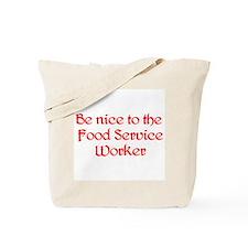 Food Service Worker Tote Bag