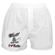 I Love Rats Boxer Shorts