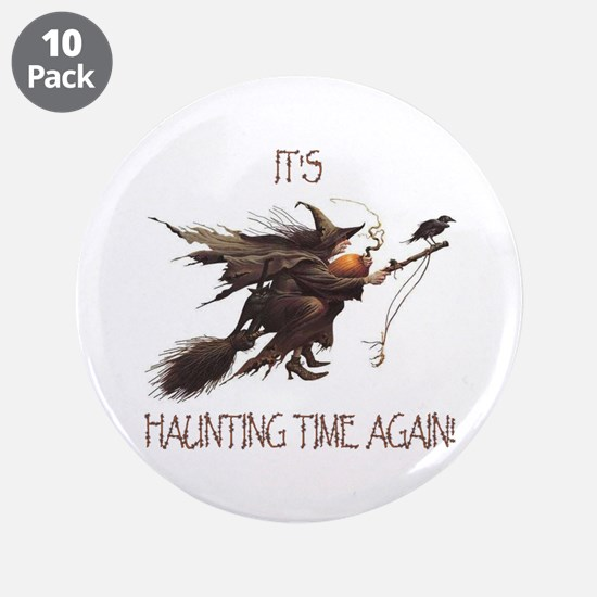 """Witch haunting time 3.5"""" Button (10 pack)"""