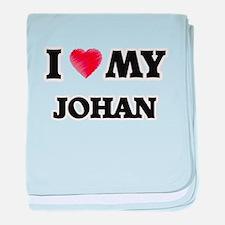 I love my Johan baby blanket