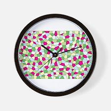 Pastel Mosaic Wall Clock