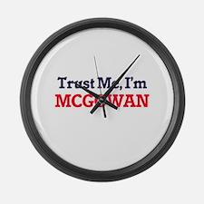 Trust Me, I'm Mcgowan Large Wall Clock