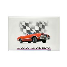 442 Ragtop Muscle Rectangle Magnet