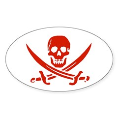 Pirates Oval Decal