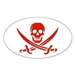 Pirates Oval Sticker