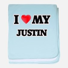 I love my Justin baby blanket