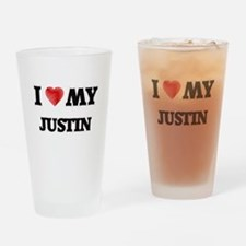 I love my Justin Drinking Glass